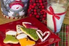 Happy Holiday Cookies Stock Photos