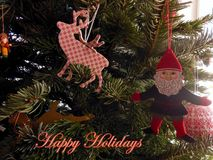 Happy Holiday Elf Greetings Royalty Free Stock Photography