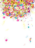 Happy holiday, funny background with balloons stock illustration