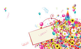Happy holiday, funny background with balloons Royalty Free Stock Images