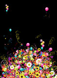 Happy holiday, funny background with balloons Royalty Free Stock Photos