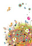 Happy holiday, funny card with balloons Stock Photography