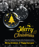 Happy holiday greeting banner and card design template. Merry christmas and New year theme concept Royalty Free Stock Photography