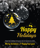 Happy holiday greeting banner and card design template. Merry christmas and New year theme concept Royalty Free Stock Images