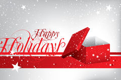 Happy Holiday greeting card Stock Photos