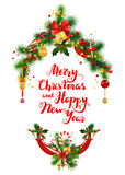 Happy holiday greeting Stock Images