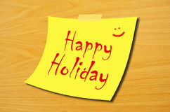Happy holiday Stock Image
