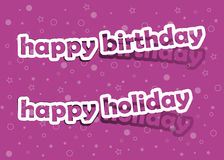 Happy holiday and happy birthday. Vector happy birthday and happy holiday; realistic cut, takes the background color Royalty Free Stock Photography