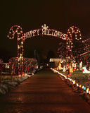 Happy holiday lights Royalty Free Stock Photography