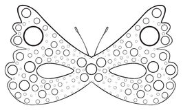 Happy holiday - Mask of Dotted butterfly Royalty Free Stock Photography