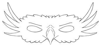 Happy Holiday - Mask Of Royal Eagle Royalty Free Stock Images