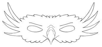 Happy holiday - Mask of Royal eagle Royalty Free Stock Images