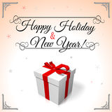 HAPPY HOLIDAY AND NEW YEAR CARD... Royalty Free Stock Image