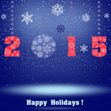 2015 happy holiday Stock Image