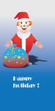 Happy holiday. Santa. Greeting card Stock Image
