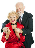 Happy Holiday Senior Couple Stock Photography