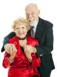 Happy Holiday Senior Couple Stock Photography