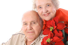 Happy holiday seniors Stock Image