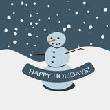 Happy Holiday Snowman Stock Photos
