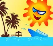 Happy holiday symbol. A illustration of warm happy holiday symbol graphic Royalty Free Stock Photos