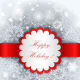 Happy Holiday tag template. Royalty Free Stock Photography