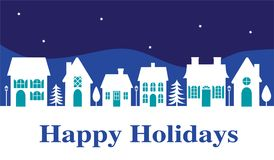 Happy holiday white house banner. Graphic Royalty Free Stock Image