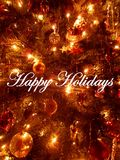 Happy Holiday Wishes Stock Photography