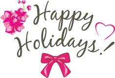 happy holidays Εορταστικό σχέδιο καρτών Στοκ εικόνα με δικαίωμα ελεύθερης χρήσης