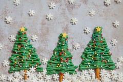 happy holidays Χριστουγεννιάτικο δέντρο cupcake στοκ φωτογραφίες με δικαίωμα ελεύθερης χρήσης