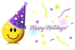 Happy Holidays. Cute smiley wishing you happy holidays vector illustration
