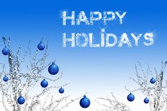 Happy Holidays. Elegant happy holidays card with lot of copy space Royalty Free Stock Photo