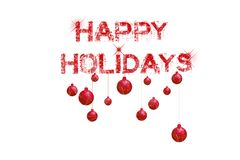 Happy Holidays. Elegant happy holidays card with lot of copy space Royalty Free Stock Photography