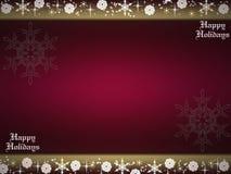 Happy holidays. Xmas illustration with snowflakes royalty free illustration