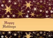Happy holidays. Xmas illustration with snowflakes vector illustration
