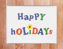 Happy Holidays Stock Photo