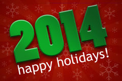 Happy Holidays 2014 Stock Photos