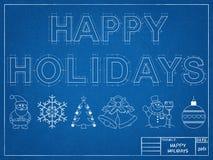 Happy Holidays 2016 - Blueprint Stock Photos