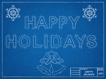 Happy Holidays 2017 - Blueprint Stock Photos