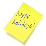 Happy holidays Stock Image