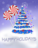 Happy Holidays. Drawn in PSP Vector Illustration