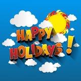 happy holidays διανυσματική απεικόνιση