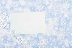 Happy Holidays. Blank card on blue snowflake background, happy holidays Stock Image