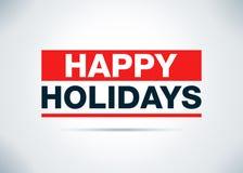 Happy Holidays Abstract Flat Background Design Illustration stock illustration