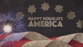 Happy Holidays America. Flag. And Star Royalty Free Stock Photography
