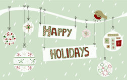 Happy Holidays Background Royalty Free Stock Images