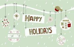Happy Holidays Background royalty free illustration