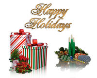 Happy Holidays Background Stock Photos