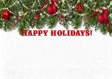 Happy holidays background with greetings Royalty Free Stock Photos