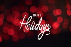 Happy Holidays Background, Light Bokeh Effect stock illustration
