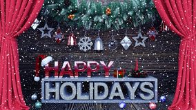 Happy holidays background with ornaments Stock Photography